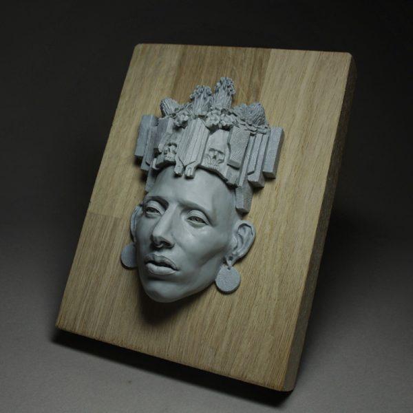 sculpture mayan polymer clay