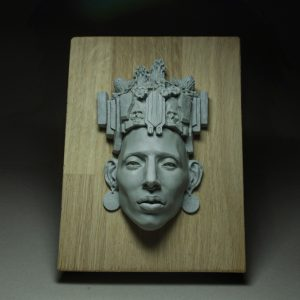 sculpture mayan polymer clay