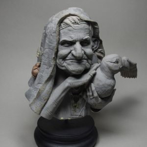 sculpture witch polymer clay