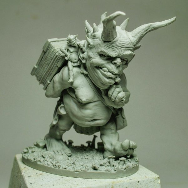 resin cast, character art, demon,