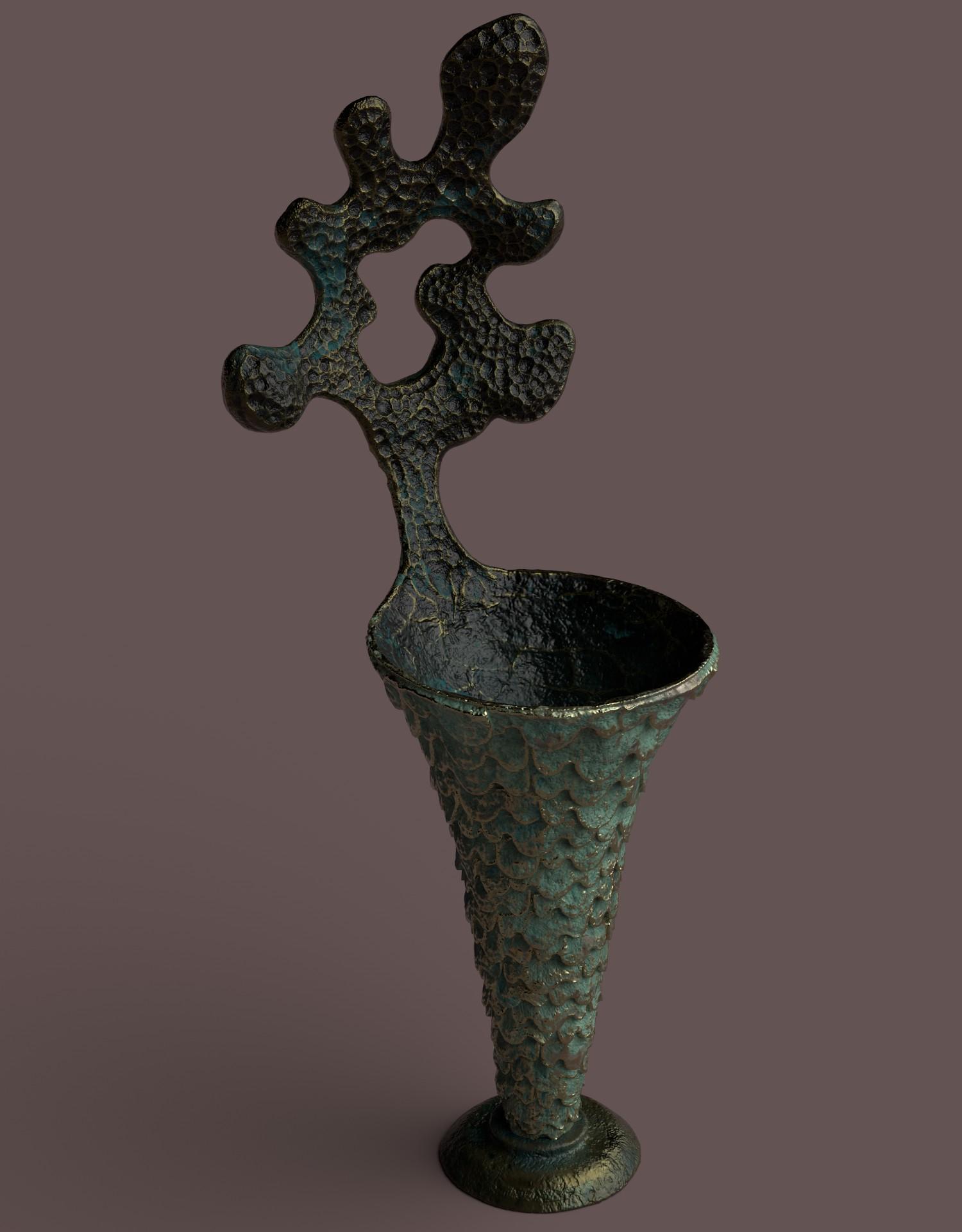 PAINTER vase ecaille 2 render test 5