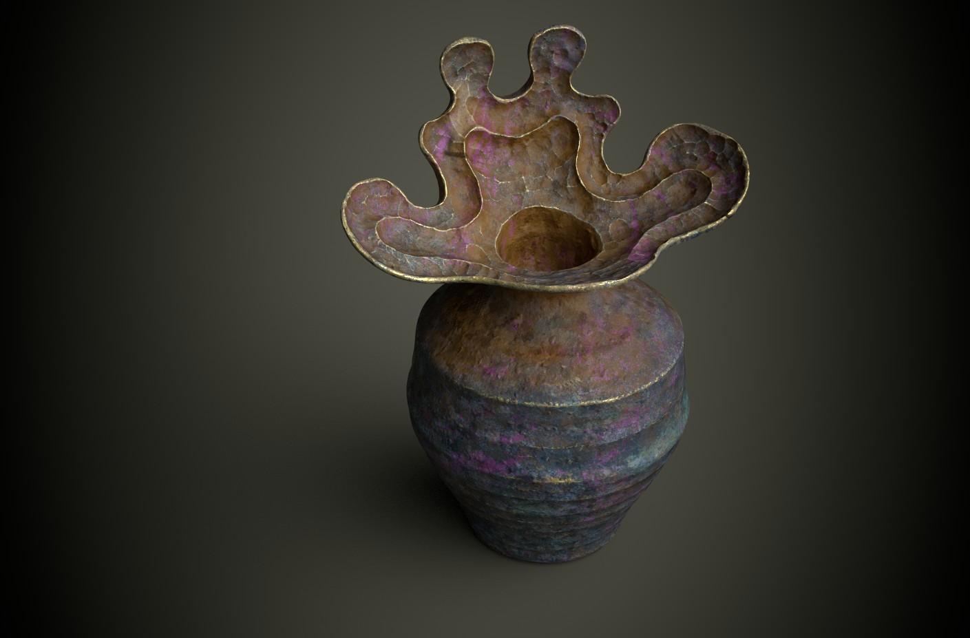 PAINTER vase organique 2 render test 3